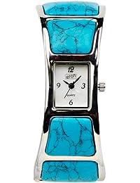 Eton Damen-Armbanduhr Analog blau 2907L-TQ