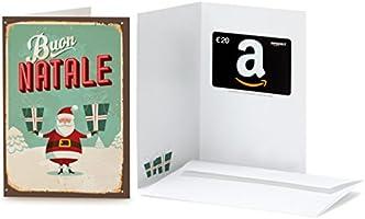 Buono Regalo Amazon.it - €20 (Biglietto d'auguri Babbo Natale Retrò)