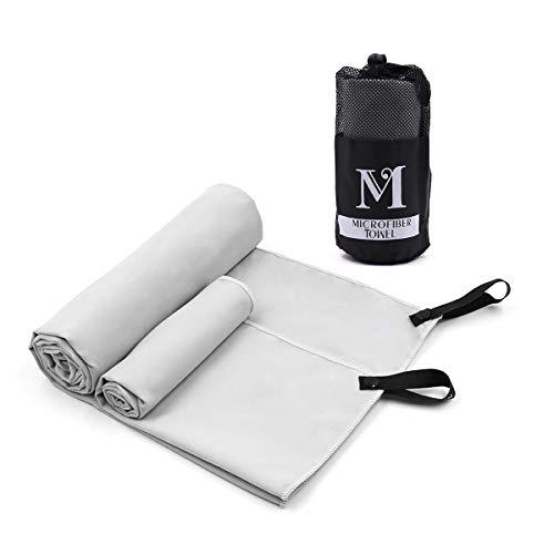 """Micv Mikrofaser Handtücher hochsaugfähig und schnell trocknend, klein, leicht ,Sporthandtuch, Reisehandtuch, Sauna Microfaser Handtuch (56\""""x 30\"""") (28\""""x 12\"""") für Sport,Strand, Yoga"""