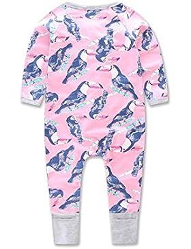 Für 0-24 Baby-Kleidung,Amlaiworld Säugling Neugeborenes Reißverschluss Print Strampler Overall Kleidung OutfitsStrampler...