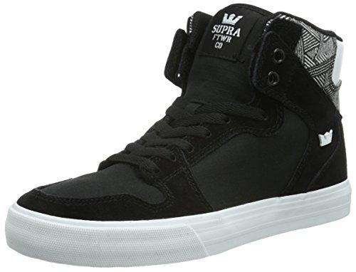 Supra - Vaider, Sneaker alte Unisex – Adulto Nero (Schwarz (BLACK / PRINT - WHITE BPR))