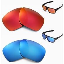 walleva polarizadas Fire Rojo + Ice Azul Lentes de repuesto para Oakley Dispatch Gafas de sol