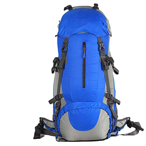 60L Im Freien Bergsteigen Taschen Reißfeste Wasserdichte Wanderrucksack Mit Großer Kapazität,Orange60L Blue60L