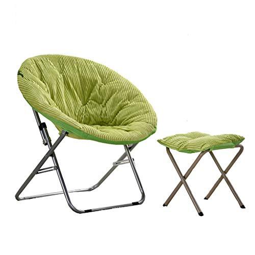 Chaise et Repose-Pieds Paresseux - Chaise de Lune Pliante canapé Paresseux Chaise Pliante épaisse/Lavable Confortable (Couleur : B)