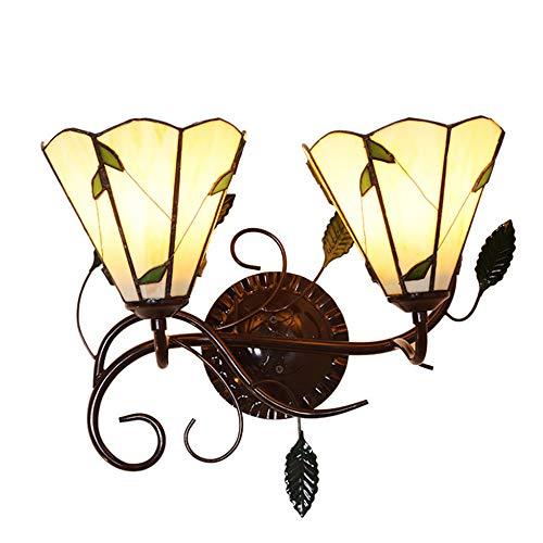 E27 Tiffany 46 * 23Cm Wandleuchte Vintage Gebeizt Glas Doppelt Shades Wand Lampe Fassung Innenbeleuchtung Leuchten Wände Wandeinbauleuchte