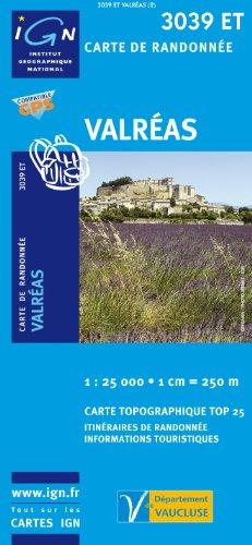 Top25 3039ET ~ Valreas carte de randonnée avec une règle graduée gratuite