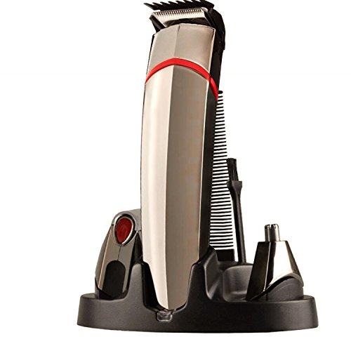 Tezam - 4 in 1 ricaricabile trimmer impostato, Elettrico Rasoio e naso capelli Trimmer e Capelli Clipper per Viso Rasatura