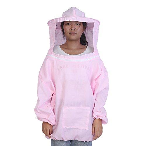 Kostüm Einen Anzug Tragen - TOPINCN Imkerei Schutzjacke Professionelle Durable Komfortable Runde Hut Anzug Bienenhaltung Imker Ausrüstung MEHRWEG VERPACKUNG (Pink)