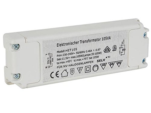 Velleman eléctrica halógena Transformador 35-105VA Primary: 230VAC seg.: 11,5Vac, het105N