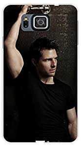 Crazy Beta Tom Cruise Hollywood Actor and Producer Printed mobile back cover case for Samsung Galaxy Alpha