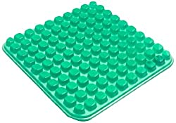 Abilitations Gel E Seat - 10 x 10 - Green