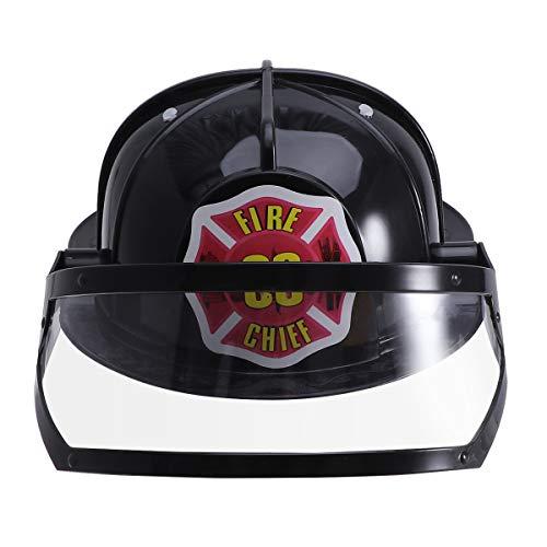 instellbare Feuer Hut Spielzeug Pädagogisches Spielzeug Cosplay Party BAU Lustige Gadgets für Kinder Kinder (Schwarz) ()