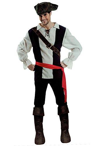 Amscan Pirat Herren Karneval Kostüm 5 TLG. Fasching Verkleidung Seeräuber (L/XL)