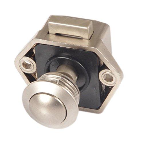 Push-button (Push Button Verriegelung, Drehknopf Schloß, Positive Action für Wohnmobil-, Caravan, Wohnmobil, Möbel Schrank, innerhalb 15–27mm Stärke, Malxs Lk6420C)