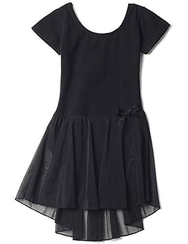 Mdnmd Mädchen Ballettkleid mit Rock und kurze Ärmel (Höhe 160cm