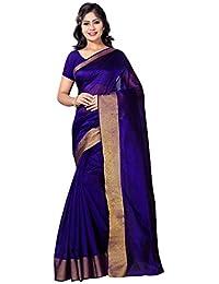 Vimalnath Women's Cotton Silk Saree (Rmy7,Blue,Free Size)