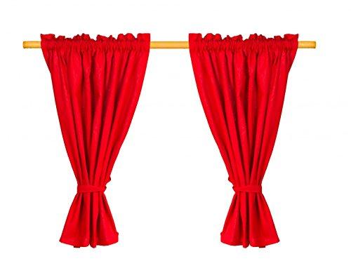 BioKinder - Das gesunde Kinderzimmer Werkstätten Karthaus 24135 Kasperle Vorhang, rot