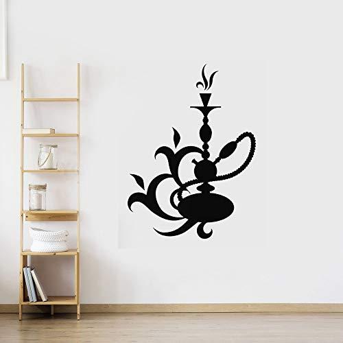 wandaufkleber 3d Wandtattoo Wohnzimmer Shisha Shop Aufkleber Mann Aufkleber Shisha Smoking Smoke Arabisch Aufkleber Kunst Wandbild für Shisha Shop