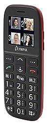 Olympia 2214 Bella Mobiltelefon-/Seniorenhandy (Große Tasten, Notruf-Taste, geeignet für Senioren, Rentner ohne Vertrag, Altersgerechtes Handy mit Tasten) schwarz