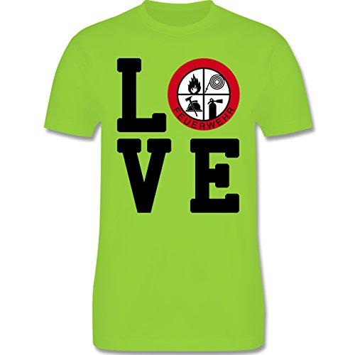 Feuerwehr - LOVE Feuerwehr - Herren Premium T-Shirt Hellgrün