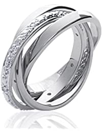 ISADY - Mandana - Women's Ring - 925 Sterling Silver - Cubic Zirconia Clear