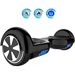 "Hoverboards 6.5"" Balance Board Patinete Eléctrico Scooter Talla LED 350W*2 (Black, 6.5)"