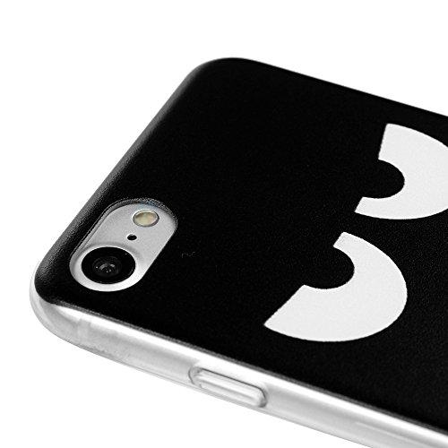 YOKIRIN Custodia per iPhone 7 (4.7 Pollici), Custodia Protettiva PC Case Anti Polvere e Graffi Trasparente Vario Disegno (Lamore tra il Gatto e il Pesce) Arrabbiato