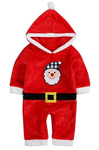 Happy Cherry - Disfraces de Bebés Recien Nacido para Navidad Christmas con Capucha Traje de Una Pieza Mamaluco para Bebés - 3-6 Meses
