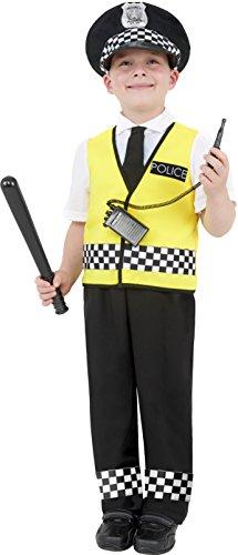 Imagen de smiffy's  disfraz de policía para niño, talla s 4  6 años  38661s