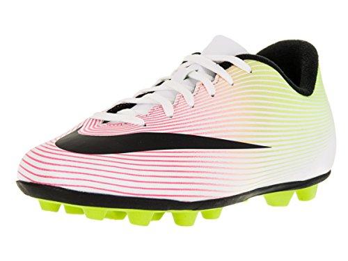 Nike Jr Mercurial Vortex II FG-r, Scarpe da Calcio Unisex Bambini Bianco (Blanco (White / Black-Volt-Total Orange))