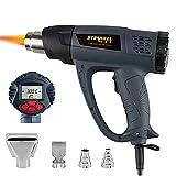 DJG Heat Gun, Tablette Heißluftgebläse 2000W Wireless-Heißluftpistole Kit Mit LCD-Anzeige, Einstellbare Temperatur, Für Schweißen/Schrumpfen/Stripping/Grilling