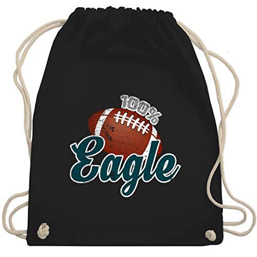 American Football - 100% Eagle - Unisize - Schwarz - WM110 - Turnbeutel & Gym Bag -