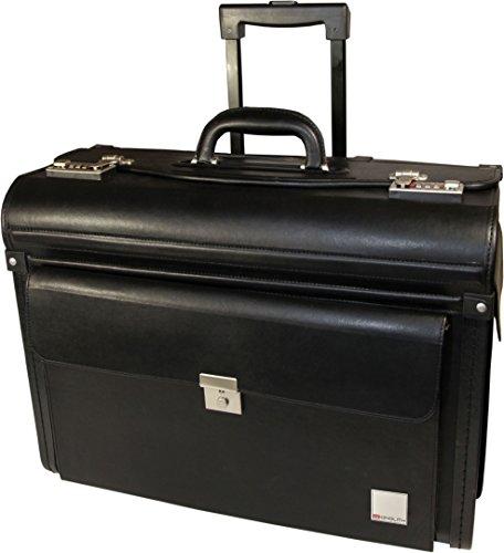 Monolith Pilotenkoffer Trolley, Kunstleder, schwarz