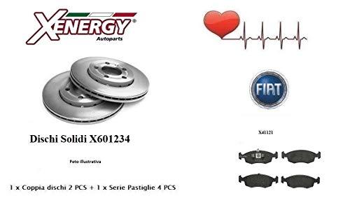 X601234-X41121 Dischi Solidi + Pastiglie Freno Anteriori Xenergy