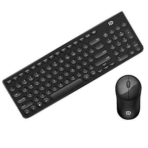 Wireless-Tastatur und Maus-Set, Home-Notebook-Desktop-Universal-Spiel Büro Schreiben Jungen und Mädchen Mode Tastatur und Maus-Set, Lange Standby