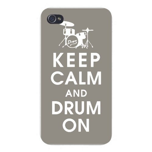 apple-iphone-custom-case-5-5s-snap-on-keep-calm-and-drum-on-w-drum-set