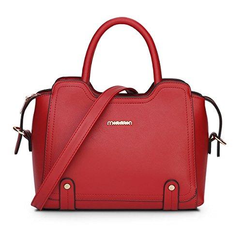 Dissa® S732 Damen 2018 Mode PU Schultertaschen,Umhängetaschen,Henkeltaschen,29x23x16(BxHxT) Rot