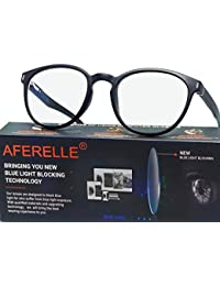 Aferelle® Premium Blue Ray Cut Lens UV420 With Anti-reflection Round Frame For All Digital Screens [LAPTOP,TV,MOBILE] Unisex Glasses (50 mm, BLACK)