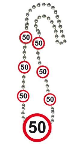 Folat Creative Geburtstags-Halskette mit Verkehrsschildern – 50. Geburtstag