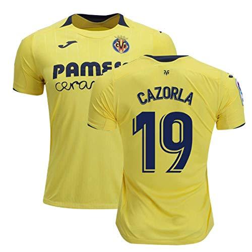 2018-2019 Villarreal Joma Home Football Soccer T-Shirt Camiseta (Santi Cazorla 19)