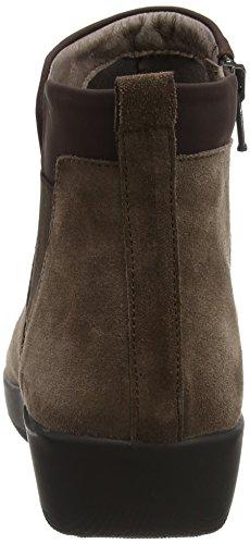 Stonefly Damen Paseo Iv 5 Velour Chelsea Boots Braun (Oak Brown 1a09)