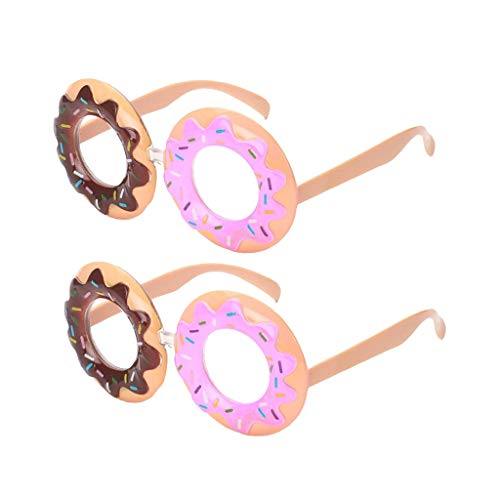 sharprepublic 2er Pack Niedliche Donut Spaßbrille Partybrillen Foto Requisiten Zubehör für Weihnachten Hochzeit, Valentinstag Party