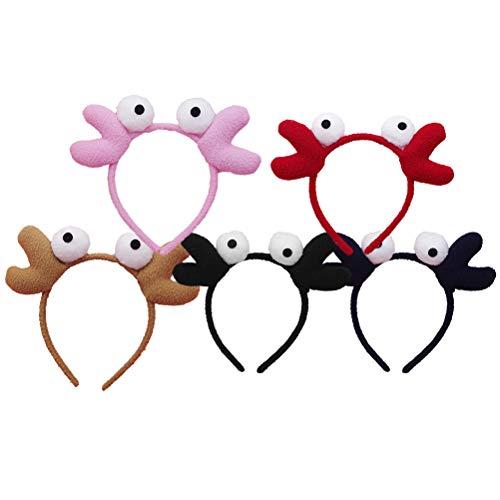 Frcolor 5 Stück Krabben-Haarbänder für Frauen und Mädchen, lustiges Haarband, Kopfbedeckung für Cosplay, Kostümparty