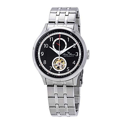 Lucien Piccard Open Heart GMT II Automatic Black Dial Mens Watch LP-28010A-11