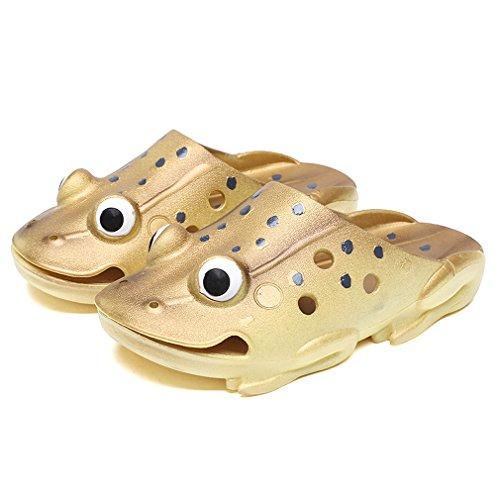 KVbaby Kinder Ultra-weich Hausschuhe Frosch Badelatschen Jungen Mädchen Sommer Dusch-& Badeschuhe Anti-Rutsch Slipper Clogs Gr.21-40