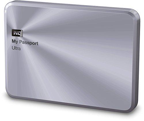 Western Digital 2TB silber My Passport Ultra Metal Edition tragbare externe Festplatte - USB 3.0 - WDBEZW0020BSL-EESN
