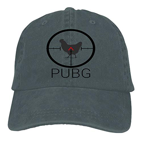 Unisex PUBG Hen Cotton Denim Dad Hat Adjustable Plain Cap