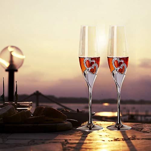 z Hochzeit Champagner Weingläser Kristall Versilbert Toasten Flöten Tasse Für Party Dekoration,Stil 1 ()