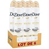 Dove Déodorant Femme Spray Pierre D'Alun Karité 200ml - Pack de 6