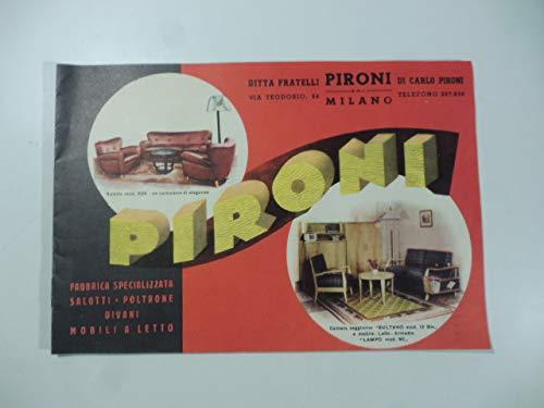 Ditta Fratelli Pironi, Milano. Fabbrica specializzata saloni, poltrone, divani, mobili letto. Catalogo